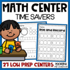 Math Center Time Savers {Pre-K &amp; Kdg}