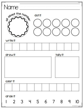Math Center Time Savers {Pre-K & Kdg}