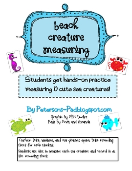 Math Centers: Beach Creature Measuring