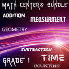 Math Centers Bundle - Grade 1