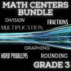 Math Centers Bundle - Grade 3