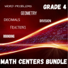 Math Centers Bundle - Grade 4