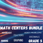 Math Centers Bundle Grade 5