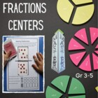 Math Centers Fractions - Math CCSS
