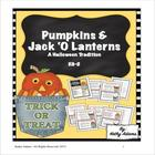 "Math Center: Halloween Pumpkins & Jack ""o"" Lanterns"