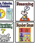 Math Centers Labels/Recording Sheet