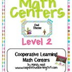 Math Centers - Level 2 (Owl theme)