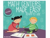 Math Centers Made Easy. Kinder Edition. English 14 Centers!!!