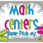 Math Centers SUPER PACK #2 {10 activities}