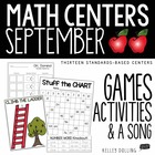 Math Centers - September {Common Core - 1st Grade}