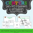 Math Centers: Solving Equations Activity Bundle