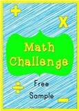 Math Challenge 5th Grade Review SAMPLE