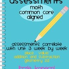 Math Common Core/ First Grade- Unit 3 Assessments