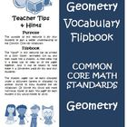 Math Common Core Geometry Vocabulary Cards
