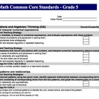 Math Common Core Standards Checklist for Lesson Plans xlsx