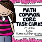 Math Common Core Task Cards 5th Grade CCSS 5.OA.2