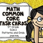 Math Common Core Task Cards 5th Grade CCSS 5.OA.3