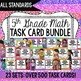 Math Common Core Task Cards 5th Grade Complete Set *All St