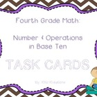 Math Common Core Task Cards Numbers and Operations in Base