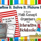 Math Concept Organizers for INTERACTIVE NOTEBOOKS
