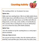 Math: Counting Objects Collection and Activity