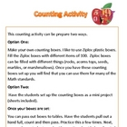 Math: Counting Objects from 1 through 100