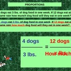 Math Create Proportions from word Problems and Solve.