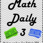 Math Daily 3 Complete Program Idea