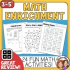 Math Enrichment Worksheets - 22 Fun Activities with Answer Keys