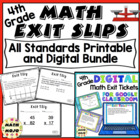 Math Exit Slips - 4th Grade Common Core All Standards Mega Bundle