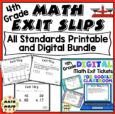 Math Exit Slips 4th Grade Common Core Mega Bundle