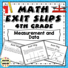 Math Exit Slips - 4th Grade Common Core Measurement and Data
