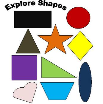 Math: Explore 2D Shapes, classify and make a bar graph