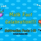 Math Fact Celebration:  Subtraction