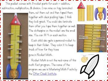 Math Fact Motivational Program-Rocket Math Rocks!