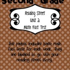 Math Fact Test for Reading Street Unit 2 Stories