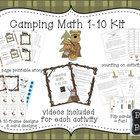 Math Fact fluency for 1-10 Camping theme part 2