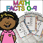 Math Facts 0-9: Flashcards