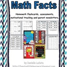 Math Facts: Assessments, Homework Flashcards and Motivatio