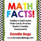Math Facts Unit: Addition &amp; Subtraction Flash Cards &amp; Week