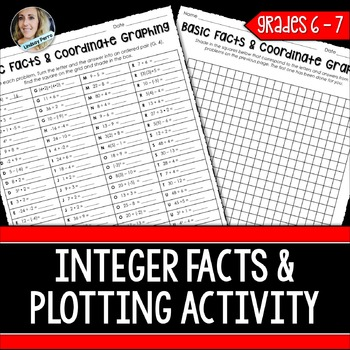 Math Facts and Coordinate Graphing Practice