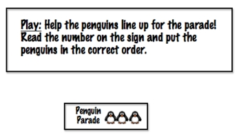 Math File Folder Game: Place Value Penguin Parade