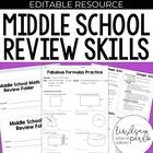 Middle School Math Review Skills and Practice {File Folder