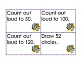 Math Fluency Center Task Cards