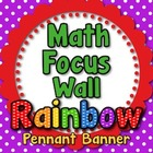 &quot;Math Focus Wall&quot; Banner or Bunting - Larger Letters