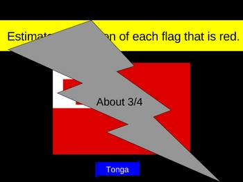 Math Fractions Flag Estimates PowerPoint
