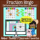 Math Fractions Games for Kids:  Bingo