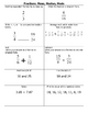 Math:  Fractions, Mean, Median, and Mode