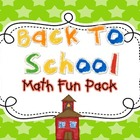 Math Fun Pack {Back To School}