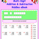 Math Galaxy Multi-Digit Addition and Subtraction Riddles eBook